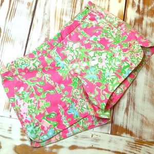 Lilly Pulitzer Floral Pink & Green Shorts Size 2